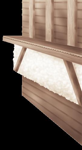 Chalet de pared interior