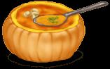 Sopa de calabaza de Halloween