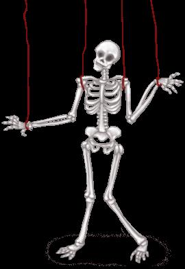 Esqueleto oscuro de laboratorio