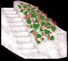 Bloque de escaleras de Grecia