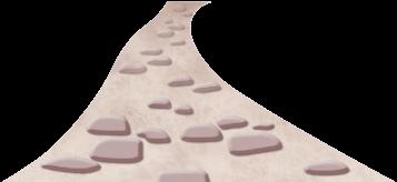 Camino de piedras de grecia