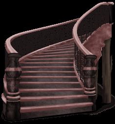 Escalera del castillo oscuro