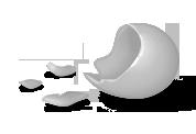 Huevo de chocolate comido