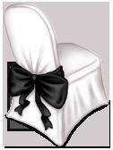 Silla de recepción de boda