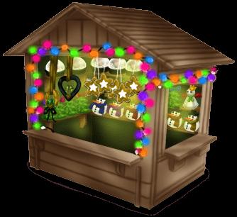 Cabaña del mercado de Navidad