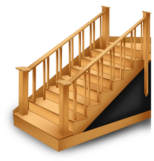 Escalera gótica