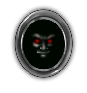 Espejo de cara de vampiro