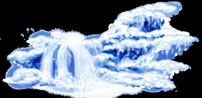 Patinador en cascada