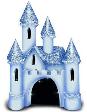 Castillo princesa nieve