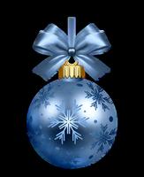 Bola de navidad azul