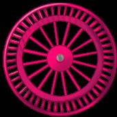 Rueda de fondo rosa