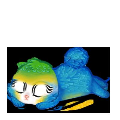 Adopta un Conejo Guacamayo azul