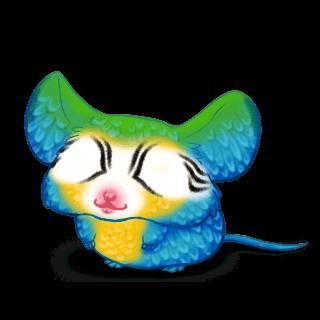 Adopta un Ratón Guacamayo azul