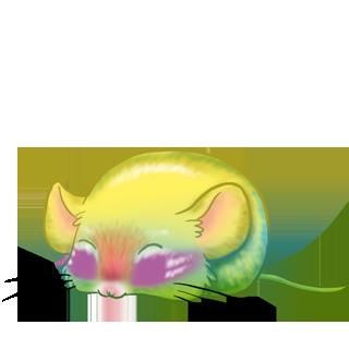 Adopta un Ratón Beige y negro